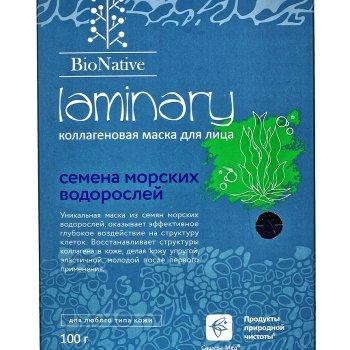 Коллагеновая маска для лица BioNative Laminary, 100 г